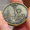 Gift: One of the homecoming gifts Sgt. Michael Harris recieved was a VFW coin.