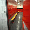 Makeover: The swimming pools at both Terre Haute North and Terre Haute South High Schools recieved attention this summer, with new locker rooms and airconditioning systems. This is the girls' locker room at South with the red, white and black color scheme.
