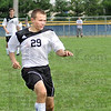 Ball battle South's #29, Dan Fredrick chases a ball during game action Saturday during the Soccer Jamboree.