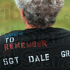 Tribune-Star/Joseph C. Garza<br /> For Dale: Dona Griffin wears a T-shirt that remembers her late son, Sgt. Dale Griffin, during the Run for the Fallen Saturday at Memorial Stadium.