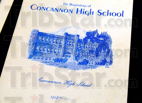 Memorabilia: A program from a previous Concannon High School event was on display during the Class of 1960's class reunion Saturday evening.