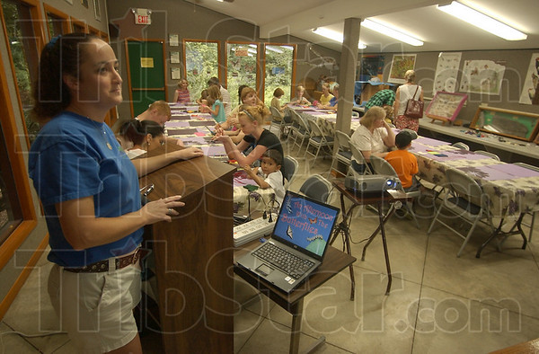 """Well attended: Carissa Lovett, naturalist at the Dobb's Park Nature Center presented """"An afternoon With Butterflies"""" earlier this month."""