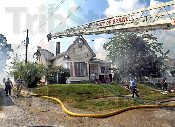 Home destroyed: A home on Walnut Street in Brazil destroyed by fire Wednesday afternoon.