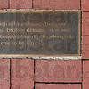 """Tribune-Star/Joseph C. Garza<br /> ItÕs correct to be cheerful: A plaque embedded in limestone sits near the corner of Seventh Street and Wabash Avenue that contains the conclusion of Max Ehrmann's """"Desiderata."""""""