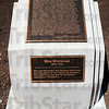 Tribune-Star/Joseph C. Garza<br /> In its entirety: Max Ehrmann's ÒDesiderataÓ sits on a carved stone for generations to enjoy at the corner of Wabash Avenue and Seventh Street.