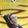 At your service: Northview Senior Hannah Hayes serves to Mooresville Monday night.