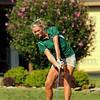 Tee iron: West Vigo's #2 golfer Kristina Smith uses an iron off the tee on Forest Parks' sixth hole.