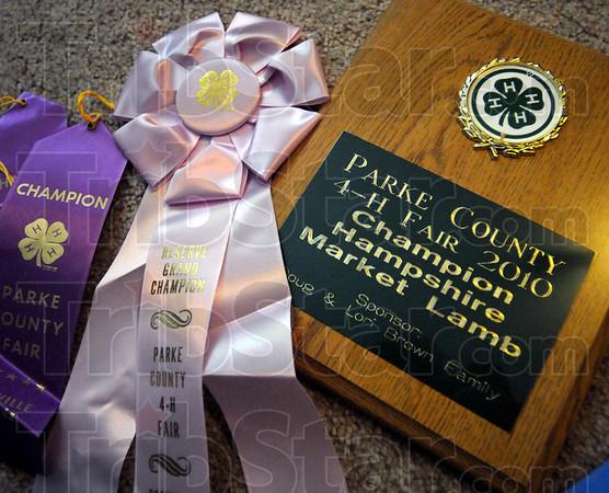 Awards: Jodi Jones has won several awards during the 4-H Fair 2010.