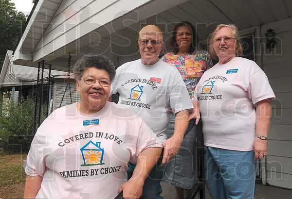 Tribune-Star/Joseph C. Garza<br /> Dedicated to successful families: Families by Choice staff members A. Theressa Bynum, Bernie Ryan, Dianna Hart and Muriel Ryan are dedicated to providing transitional housing at Deborah's House on south 11 1/2 Street.