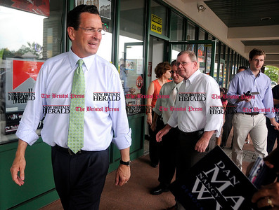 8/4/2010 Mike Orazzi | Staff Democratic Gov. candidate Dan Malloy in Bristol during a campaign stop on Wednesday.