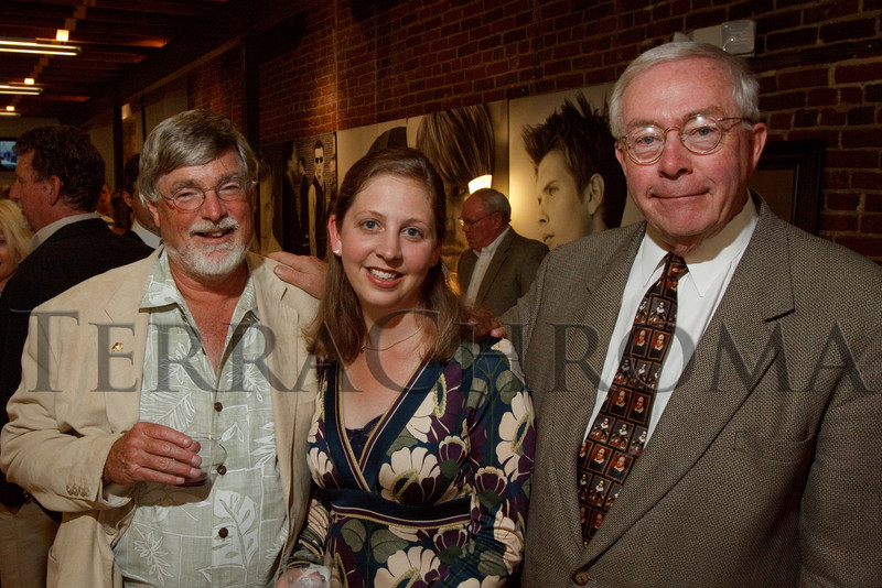 "(Denver, Colorado, Aug. 6, 2010)<br /> Tom Noel, Annie Levinsky (HD executive director), and Dennis Gallagher.  ""Night in Historic Denver,"" a celebration of the 40th anniversary of Historic Denver, at Al's Barber Shop in Denver, Colorado, on Friday, Aug. 6, 2010.<br /> STEVE PETERSON"