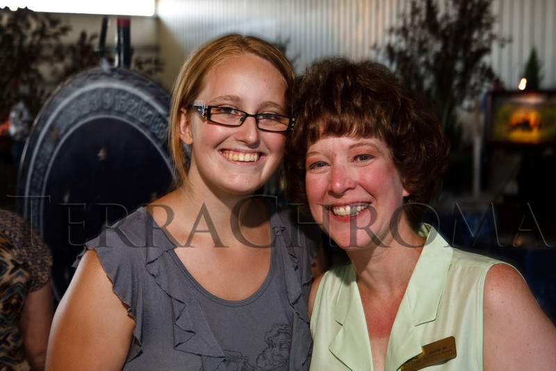 "(Louviers, Colorado, Aug. 7, 2010)<br /> Mentoring partners:  Shannon Webster and Jennifer Ito.  ""Rhinestone Roundup,"" benefiting Douglas County Partners' youth mentoring program, at Zuma's Rescue Ranch near Louviers, Colorado, on Saturday, Aug. 7, 2010.<br /> STEVE PETERSON"