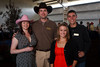 "(Louviers, Colorado, Aug. 7, 2010)<br /> Rosie Branstetter and Ryan Siemer with Shannon and Tim Kelly.  ""Rhinestone Roundup,"" benefiting Douglas County Partners' youth mentoring program, at Zuma's Rescue Ranch near Louviers, Colorado, on Saturday, Aug. 7, 2010.<br /> STEVE PETERSON"