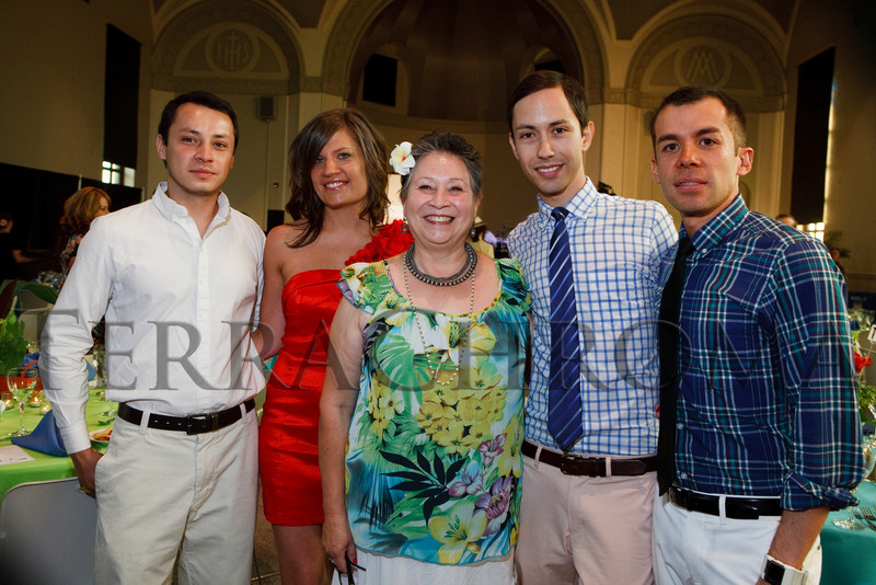 "(Denver, Colorado, Aug. 14, 2010)<br /> Saniego Sanchez, Tessa Harvey, Maruca Salazar, Jorge Gonzales Mayagoitia, and Baltazar Solano Pineda.  ""Rojo Celia,"" benefiting Museo de las Americas, at the St. Cajetan Center in Denver, Colorado, on Saturday, Aug. 14, 2010.<br /> STEVE PETERSON"