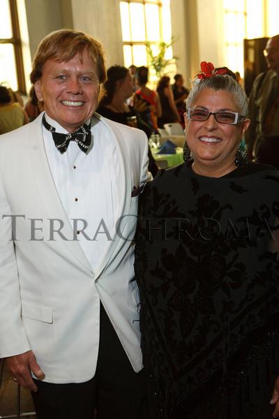 """(Denver, Colorado, Aug. 14, 2010)<br /> Denny Muirhead and Carol Zingarelli.  """"Rojo Celia,"""" benefiting Museo de las Americas, at the St. Cajetan Center in Denver, Colorado, on Saturday, Aug. 14, 2010.<br /> STEVE PETERSON"""