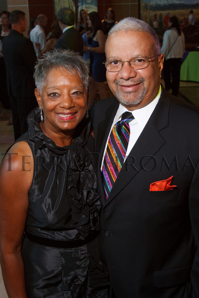 (Denver, Colorado, Aug. 21, 2010)<br /> Faye and Reggie Washington.  The Kaleidoscope Ball, a benefit for the Rocky Mountain Children's Health Foundation, at Rocky Mountain Hospital for Children at Presbyterian/St. Luke's near Denver, Colorado, on Saturday, Aug. 21, 2010.<br /> STEVE PETERSON