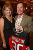 "(Littleton, Colorado, Aug. 27, 2010)<br /> Kim Byrne and Chris Medley, who won the silent auction bid on the autographed Martin Brodeur jersey.  ""Joe and Debbie Sakic Bringing Hope to the Table Celebration,"" a benefit for Food Bank of the Rockies, at the Denver Marriott South at Park Meadows in Littleton, Colorado, on Friday, Aug. 27, 2010.<br /> STEVE PETERSON"