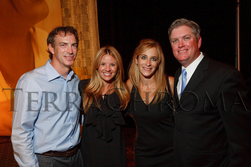 "(Littleton, Colorado, Aug. 27, 2010)<br /> Joe and Debbie Sakic with Patty and Marc Moser.  ""Joe and Debbie Sakic Bringing Hope to the Table Celebration,"" a benefit for Food Bank of the Rockies, at the Denver Marriott South at Park Meadows in Littleton, Colorado, on Friday, Aug. 27, 2010.<br /> STEVE PETERSON"