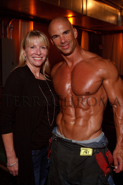 (Denver, Colorado, Aug. 27, 2010)<br /> Kirsten Hamling and David Howard.  The 2011 Colorado Firefighter Calendar debut party, hosted by Fired Up for Kids and benefiting The Children's Hospital Burn Center, at City Hall Event Center in Denver, Colorado, on Friday, Aug. 27, 2010.<br /> STEVE PETERSON