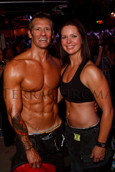 (Denver, Colorado, Aug. 27, 2010)<br /> Chip and Holly Carney.  The 2011 Colorado Firefighter Calendar debut party, hosted by Fired Up for Kids and benefiting The Children's Hospital Burn Center, at City Hall Event Center in Denver, Colorado, on Friday, Aug. 27, 2010.<br /> STEVE PETERSON