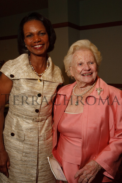 (Denver, Colorado, Aug. 27, 2010)<br /> Condoleezza Rice and Katharine Stapleton.  The University of Denver's Josef Korbel School of International Studies presents the 13th annual Korbel Dinner at the Hyatt Regency Denver at the Colorado Convention Center in Denver, Colorado, on Friday, Aug. 27, 2010.<br /> STEVE PETERSON