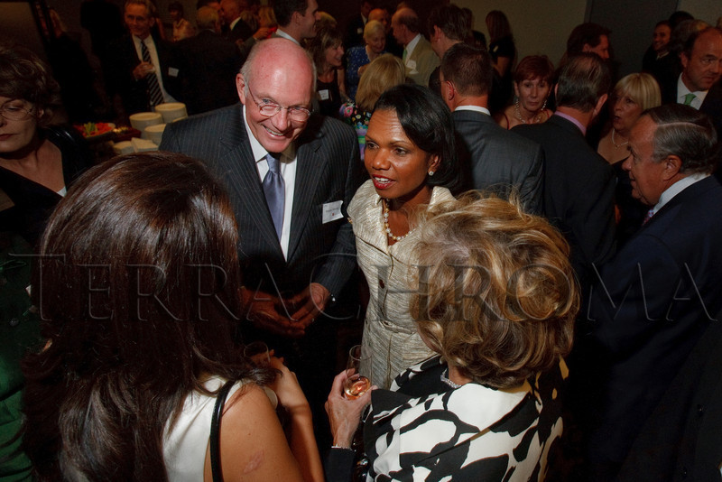 (Denver, Colorado, Aug. 27, 2010)<br /> The Murdy's speak with Condoleezza Rice.  The University of Denver's Josef Korbel School of International Studies presents the 13th annual Korbel Dinner at the Hyatt Regency Denver at the Colorado Convention Center in Denver, Colorado, on Friday, Aug. 27, 2010.<br /> STEVE PETERSON