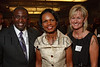 (Denver, Colorado, Aug. 27, 2010)<br /> Condoleezza Rice (center) with Cornell and Melissa Boggs.  Cornell and Dennis are with Miller-Coors.  The University of Denver's Josef Korbel School of International Studies presents the 13th annual Korbel Dinner at the Hyatt Regency Denver at the Colorado Convention Center in Denver, Colorado, on Friday, Aug. 27, 2010.<br /> STEVE PETERSON