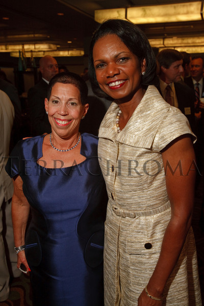 (Denver, Colorado, Aug. 27, 2010)<br /> Margot Frank and Condoleezza Rice.  The University of Denver's Josef Korbel School of International Studies presents the 13th annual Korbel Dinner at the Hyatt Regency Denver at the Colorado Convention Center in Denver, Colorado, on Friday, Aug. 27, 2010.<br /> STEVE PETERSON