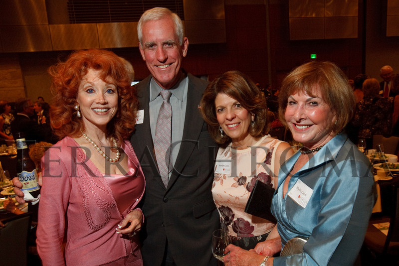 (Denver, Colorado, Aug. 27, 2010)<br /> Judi Wolf, Pete and Marilyn Coors, and Phyllis Coors.  The University of Denver's Josef Korbel School of International Studies presents the 13th annual Korbel Dinner at the Hyatt Regency Denver at the Colorado Convention Center in Denver, Colorado, on Friday, Aug. 27, 2010.<br /> STEVE PETERSON