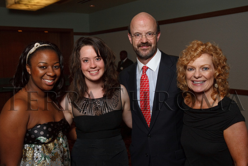 (Denver, Colorado, Aug. 27, 2010)<br /> Stella Clingmon, Roisin Pelley, Chris and Kathleen Pelley.  The University of Denver's Josef Korbel School of International Studies presents the 13th annual Korbel Dinner at the Hyatt Regency Denver at the Colorado Convention Center in Denver, Colorado, on Friday, Aug. 27, 2010.<br /> STEVE PETERSON