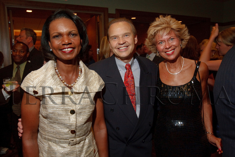 (Denver, Colorado, Aug. 27, 2010)<br /> Condoleezza Rice with Brent and Marion Neiser.  The University of Denver's Josef Korbel School of International Studies presents the 13th annual Korbel Dinner at the Hyatt Regency Denver at the Colorado Convention Center in Denver, Colorado, on Friday, Aug. 27, 2010.<br /> STEVE PETERSON