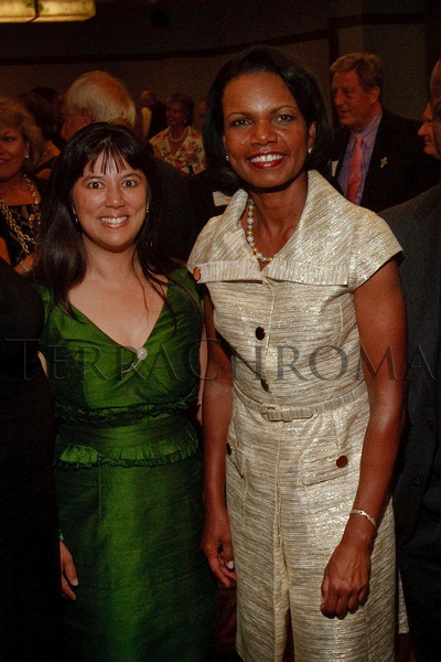 (Denver, Colorado, Aug. 27, 2010)<br /> Michelle Sie Whitten and Condoleezza Rice.  The University of Denver's Josef Korbel School of International Studies presents the 13th annual Korbel Dinner at the Hyatt Regency Denver at the Colorado Convention Center in Denver, Colorado, on Friday, Aug. 27, 2010.<br /> STEVE PETERSON