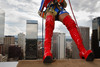 "(Denver, Colorado, Aug. 27, 2010)<br /> Nuclia Waste, in a Wonder Woman costume, rappels off the edge of the 28th floor.  ""Over the Edge,"" a benefit for the Cancer League of Colorado, at One Lincoln Park in Denver, Colorado, on Friday, Aug. 27, 2010.<br /> STEVE PETERSON"