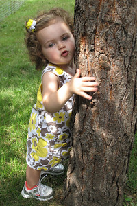 my little tree hugger!