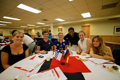 International students meet together in Ritch Banquet Hall; fall 2010.