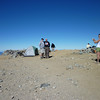 Lots of folks camped on Baldy summit