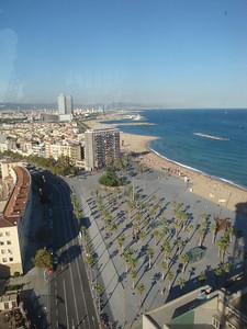 Gondola view of beach