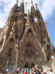 Barcelona is famous for its Gaudian architecture, and Gaudi's most famous creation is the spectacular Sagrada Familia cathedral, which has been under construction since 1882, and is not expected to be completed until at least 2026!