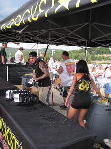 Rockstar Energy display area for the COMP Cams Topless 100 @ Batesville Motor Speedway