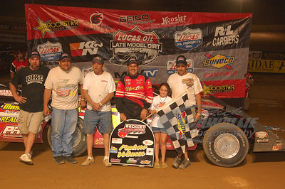 Ray Cook and crew in Victory Lane @ Beckley Motorsports Park