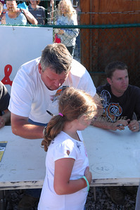 Don O'Neal signs an autograph for a fan @ Beckley Motorsports Park
