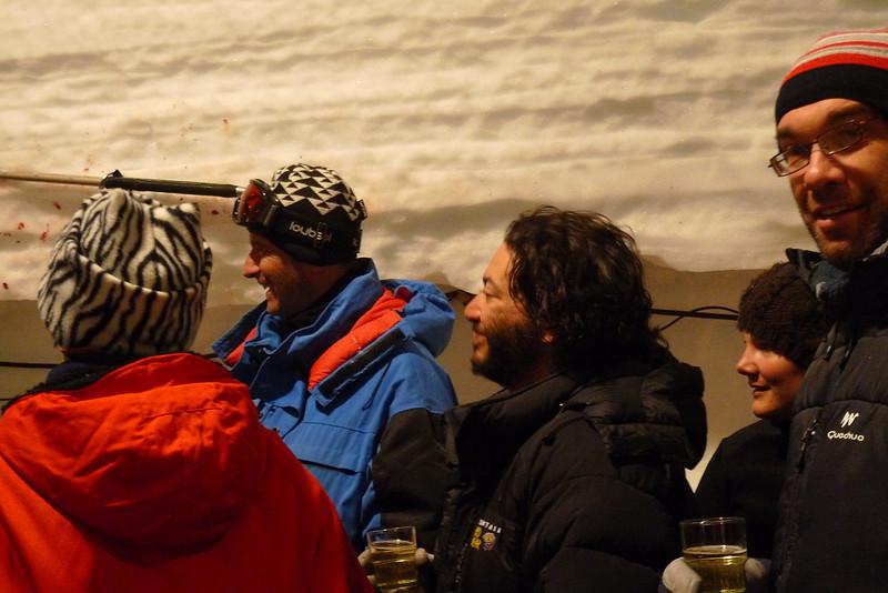 Celebrating the bedrock has been reached calls for whisky<br /> <br /> Photo: Sepp Kipfstuhl