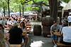 Awaiting the World Cup game at Hirschgarten beer garden