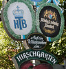 Exiting the Hirschgarten beer garden