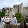 Dave and Monty in front of the city walls of Dubrovnik, Croatia