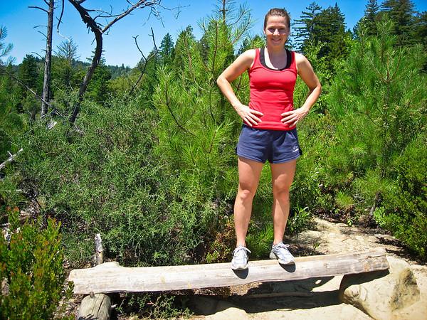 Look at me, Susannah, the bad-ass hot log walker