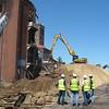 Demolition of Remington Arms in Bridgeport after a major fire