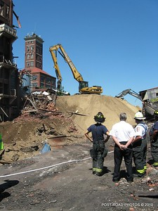 Demolition of Remington Arms in Bridgeport after a major fire