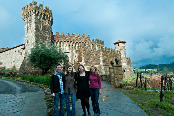Us in front of Castelli di Amorosa