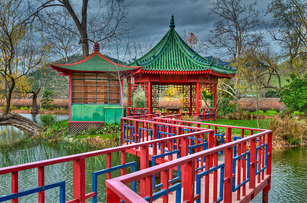The Oriental gazebo's at Chateau Montelena -- for private tastings only :(